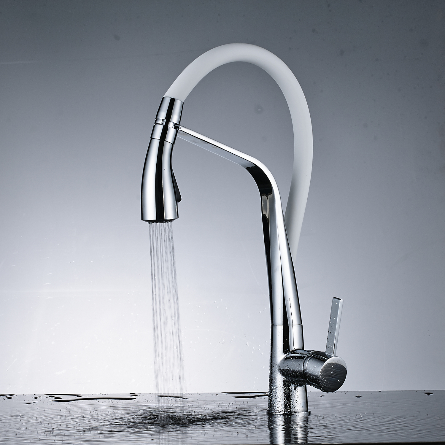 Kitchen Sink Taps Swivel Spout Basin Mixer Tap Single Lever Monobloc ...