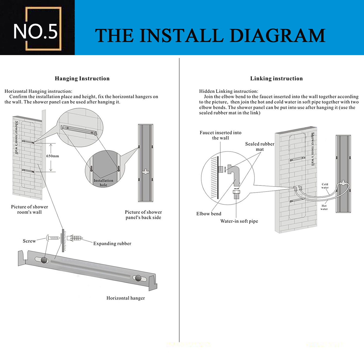 LED Shower Panel Tower System,Rainfall Waterfall Shower Faucet ...